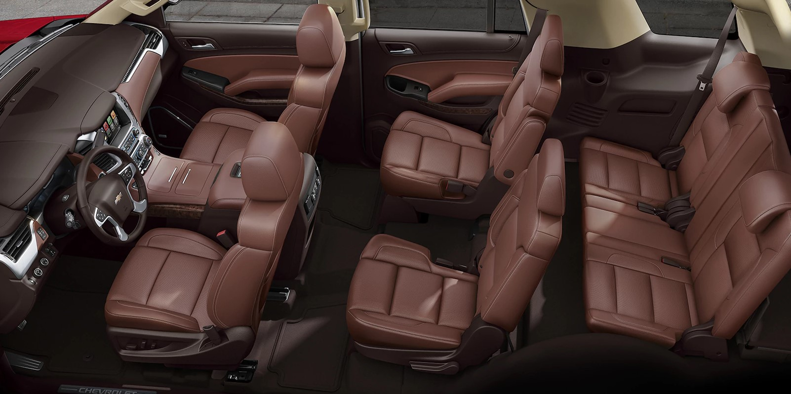 2018 Chevrolet Tahoe Brown Leather Interior