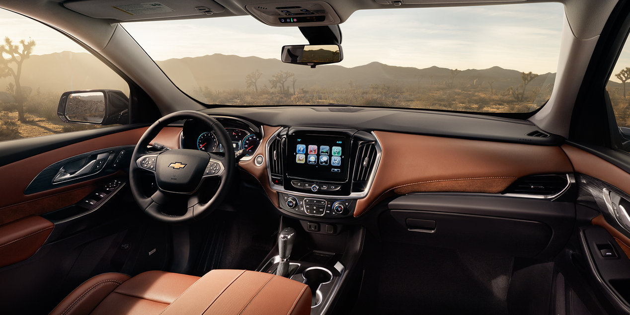 2018 Chevrolet Traverse Leather Interior Dash and Seating