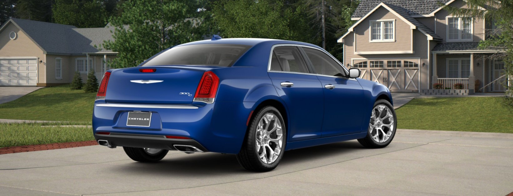 2018 Chrysler 300C Rear Blue Exterior