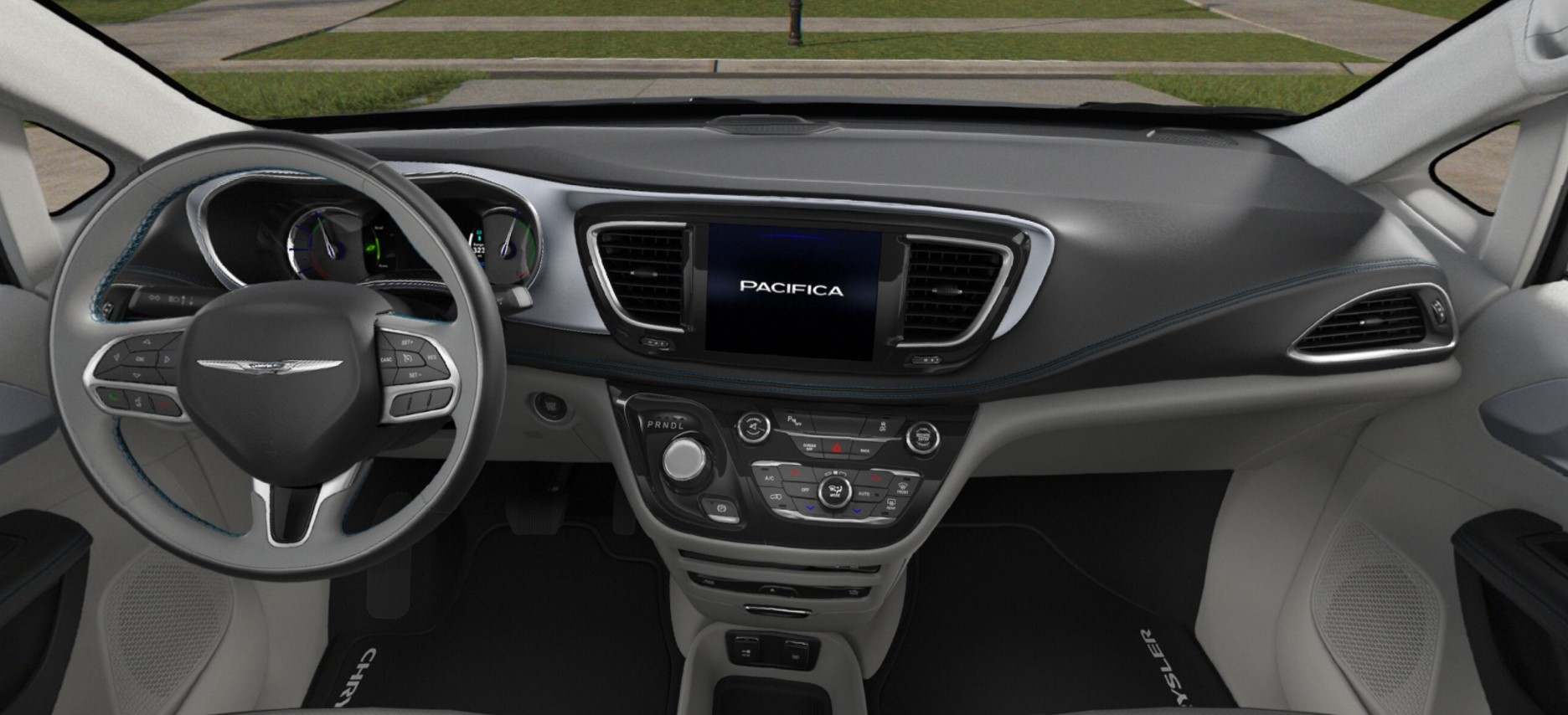 2018 Chrysler Pacifica Hybrid Limited Gray And Black Interior