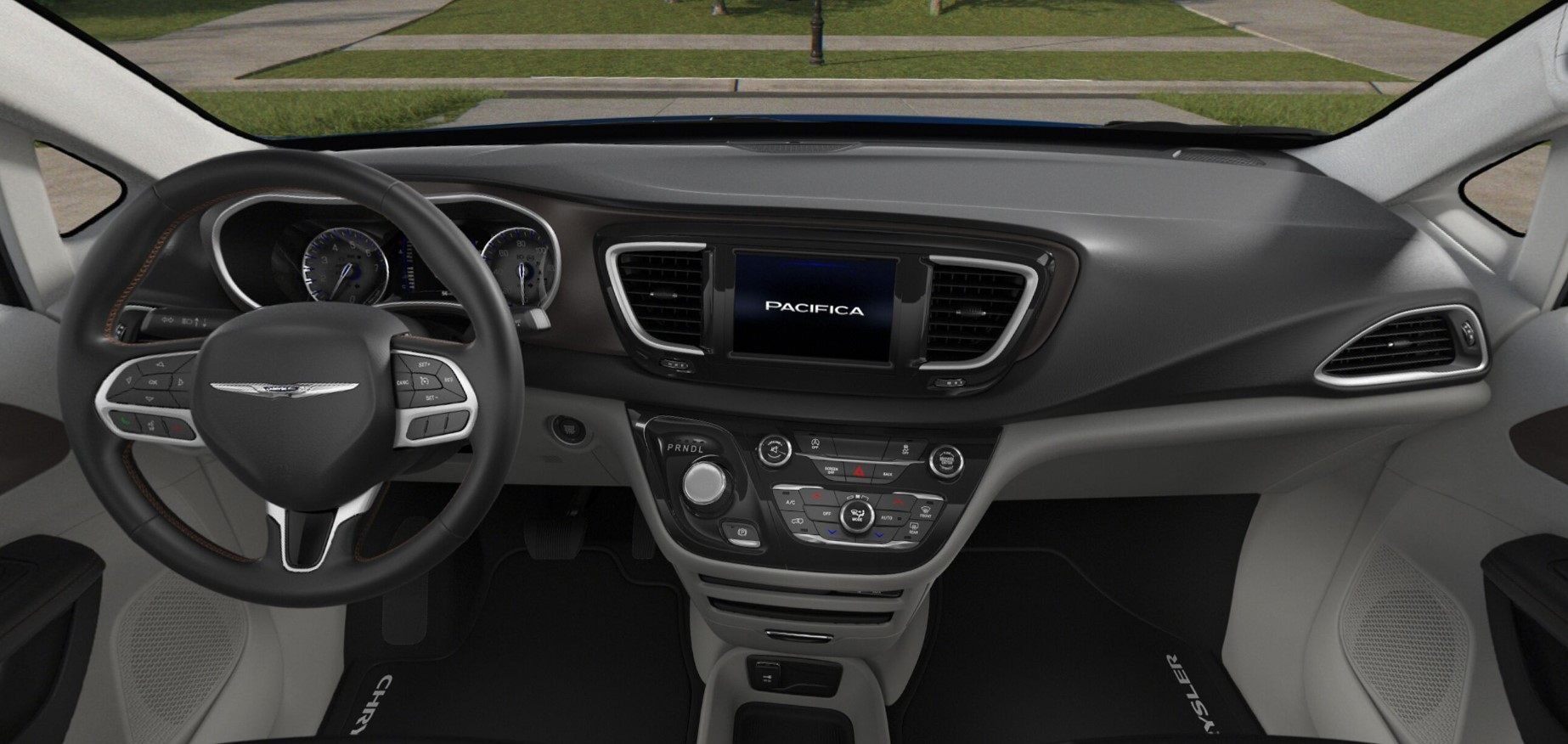 2018 Chrysler Pacifica Hybrid Touring Plus Black and White Interior
