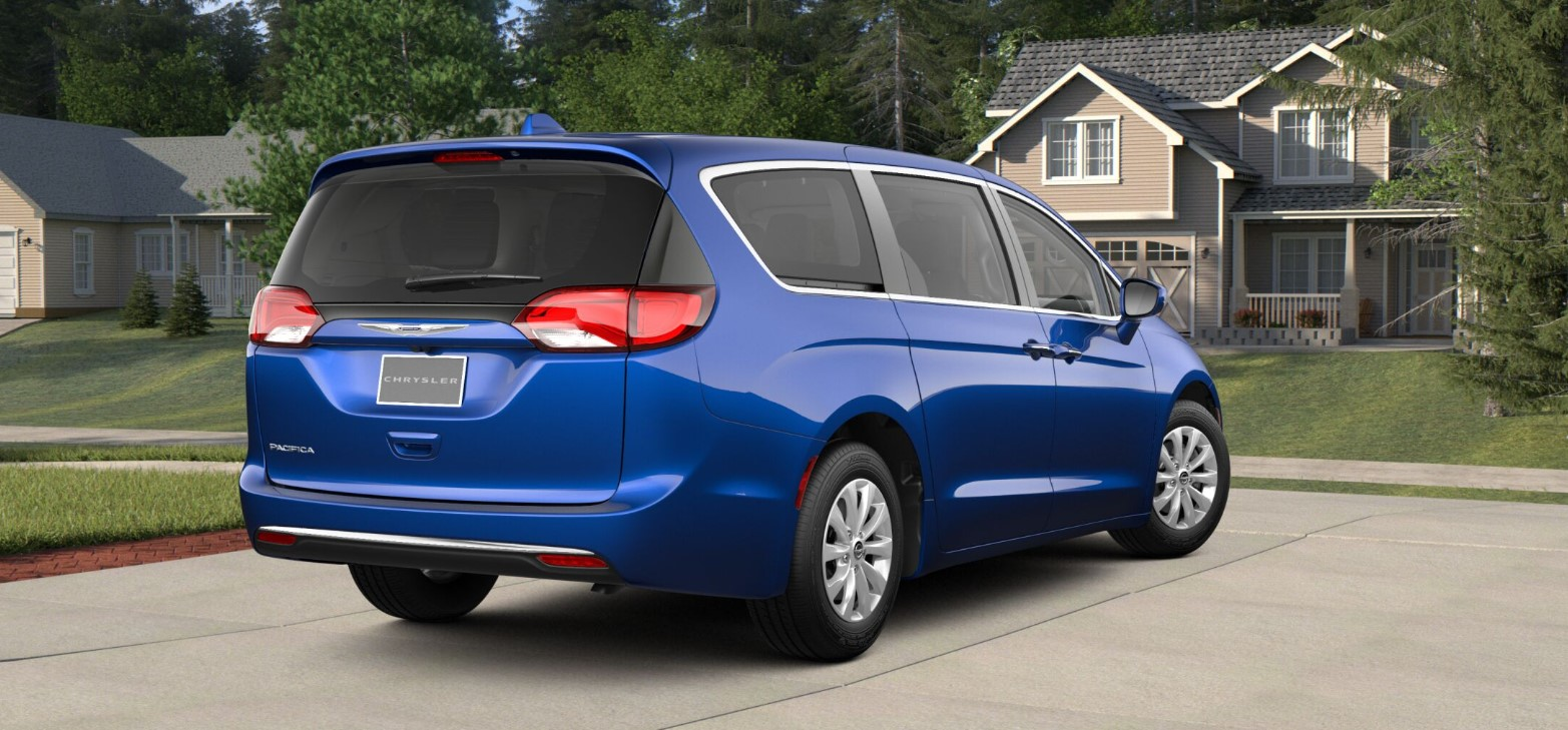 2018 Chrysler Pacifica Hybrid Touring Plus Rear Blue Exterior