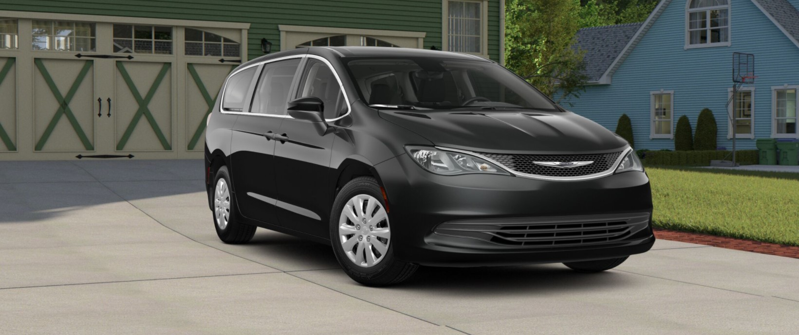 2018 Chrysler Pacifica L Black Front Exterior