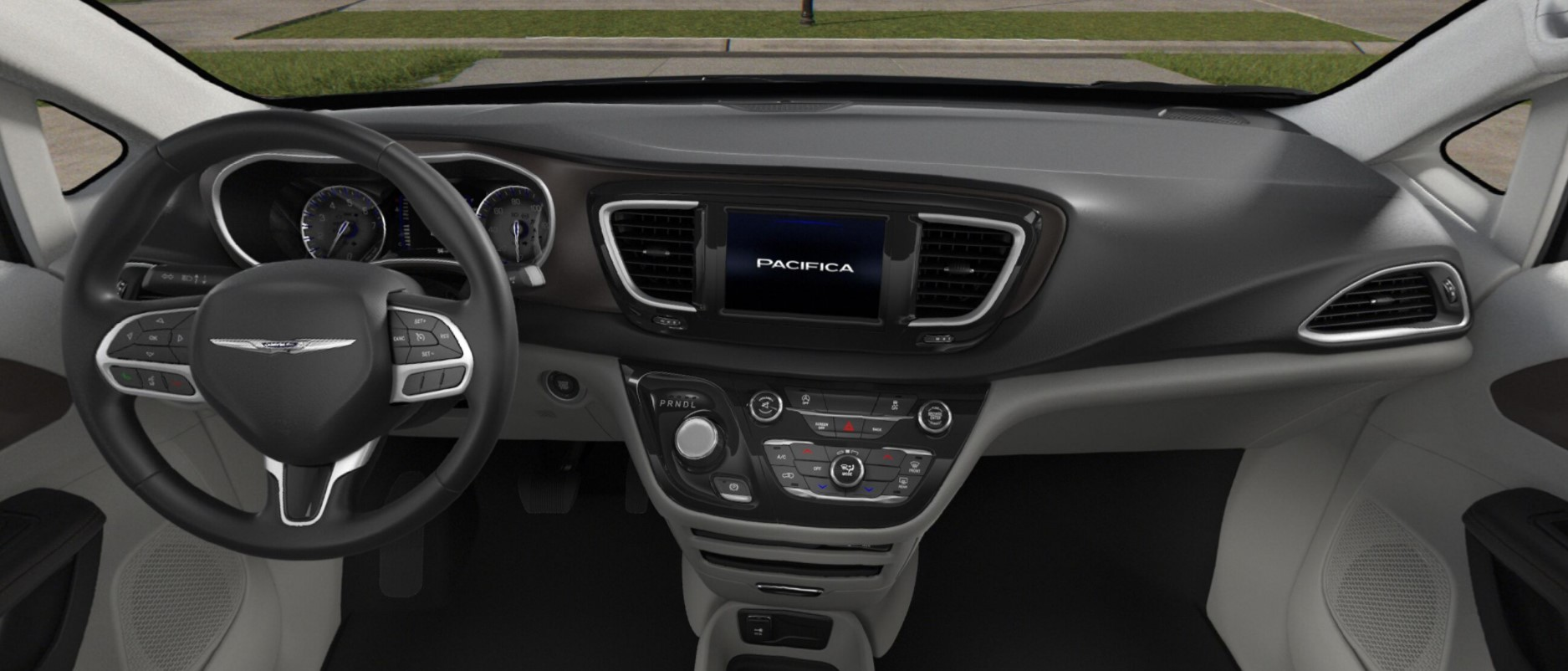 2018 Chrysler Pacifica L Black and White Interior
