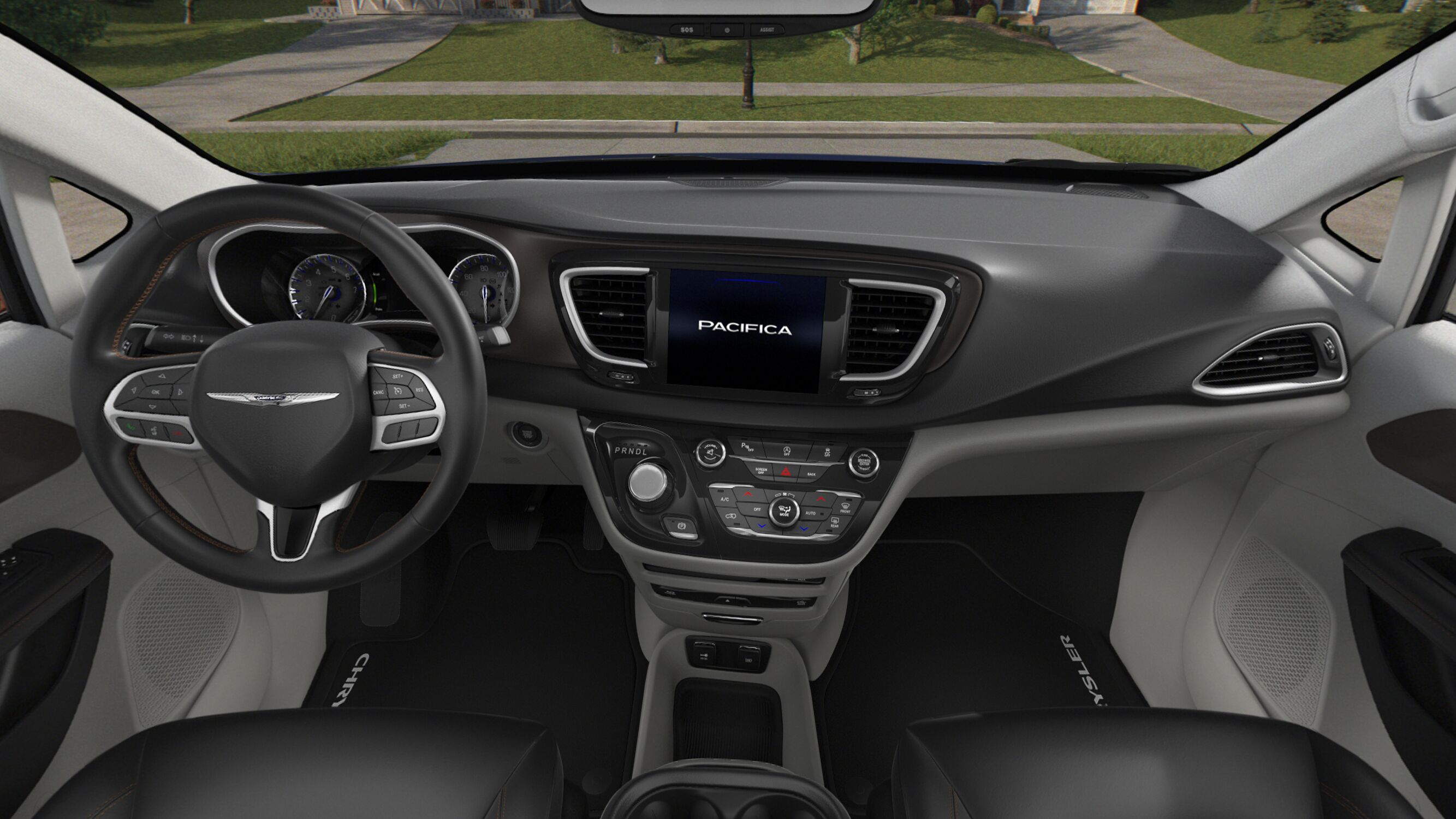 2018 Chrysler Pacifica Touring L Plus Black And White Interior