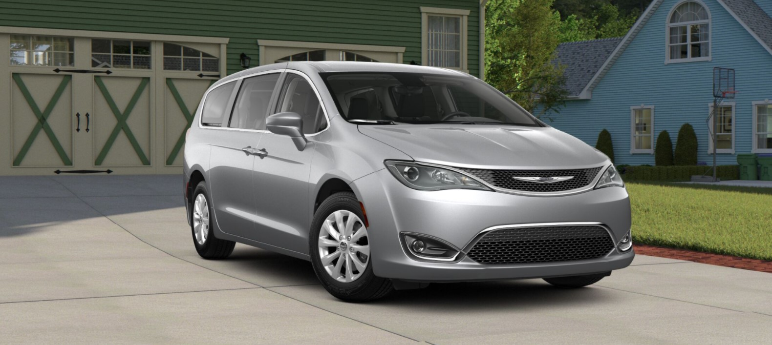 2018 Chrysler Pacifica Touring Plus Front Silver Exterior