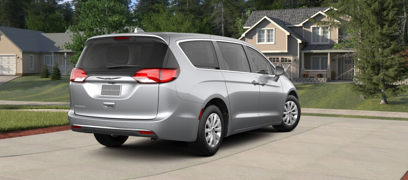 2018 Chrysler Pacifica Touring Plus Rear Silver Exterior