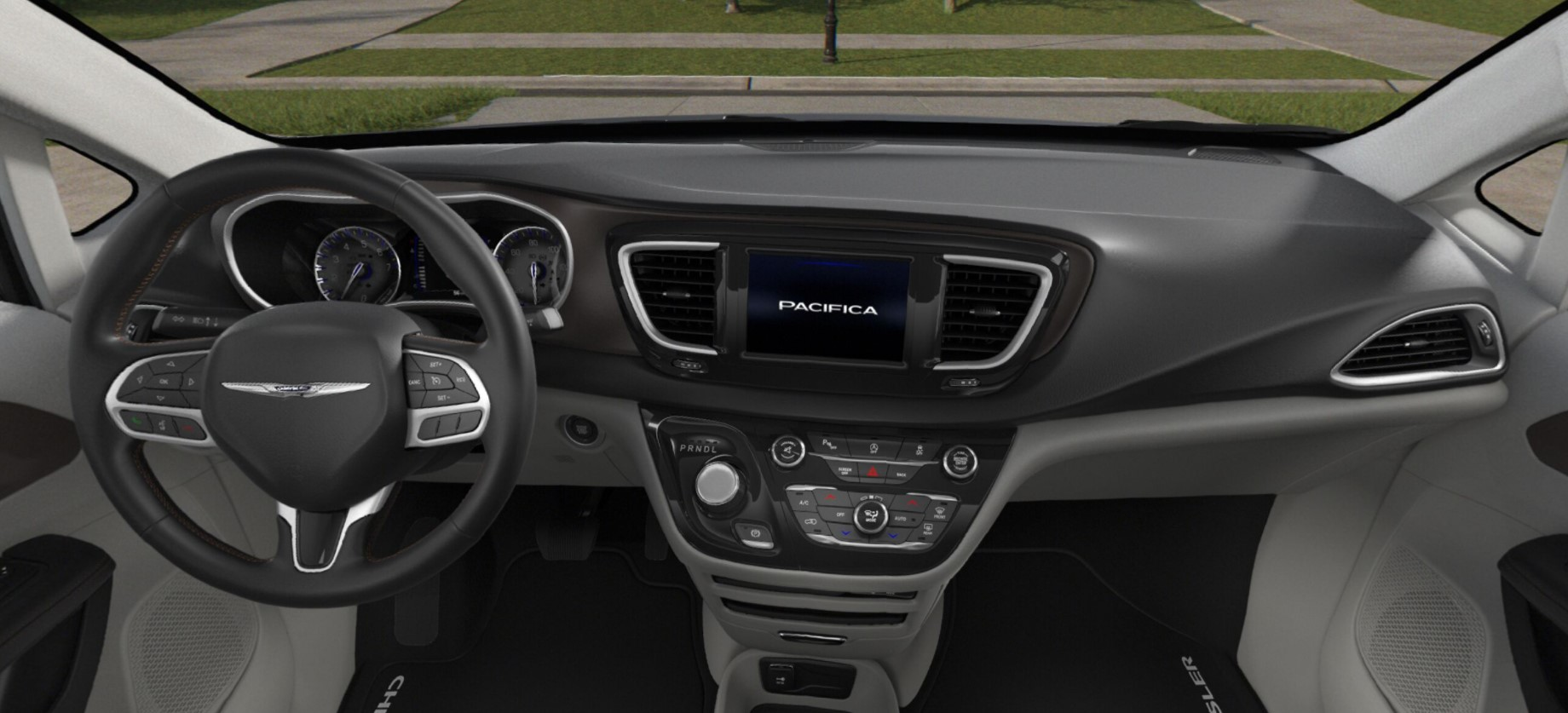 2018 Chrysler Pacifica Touring White And Black Interior
