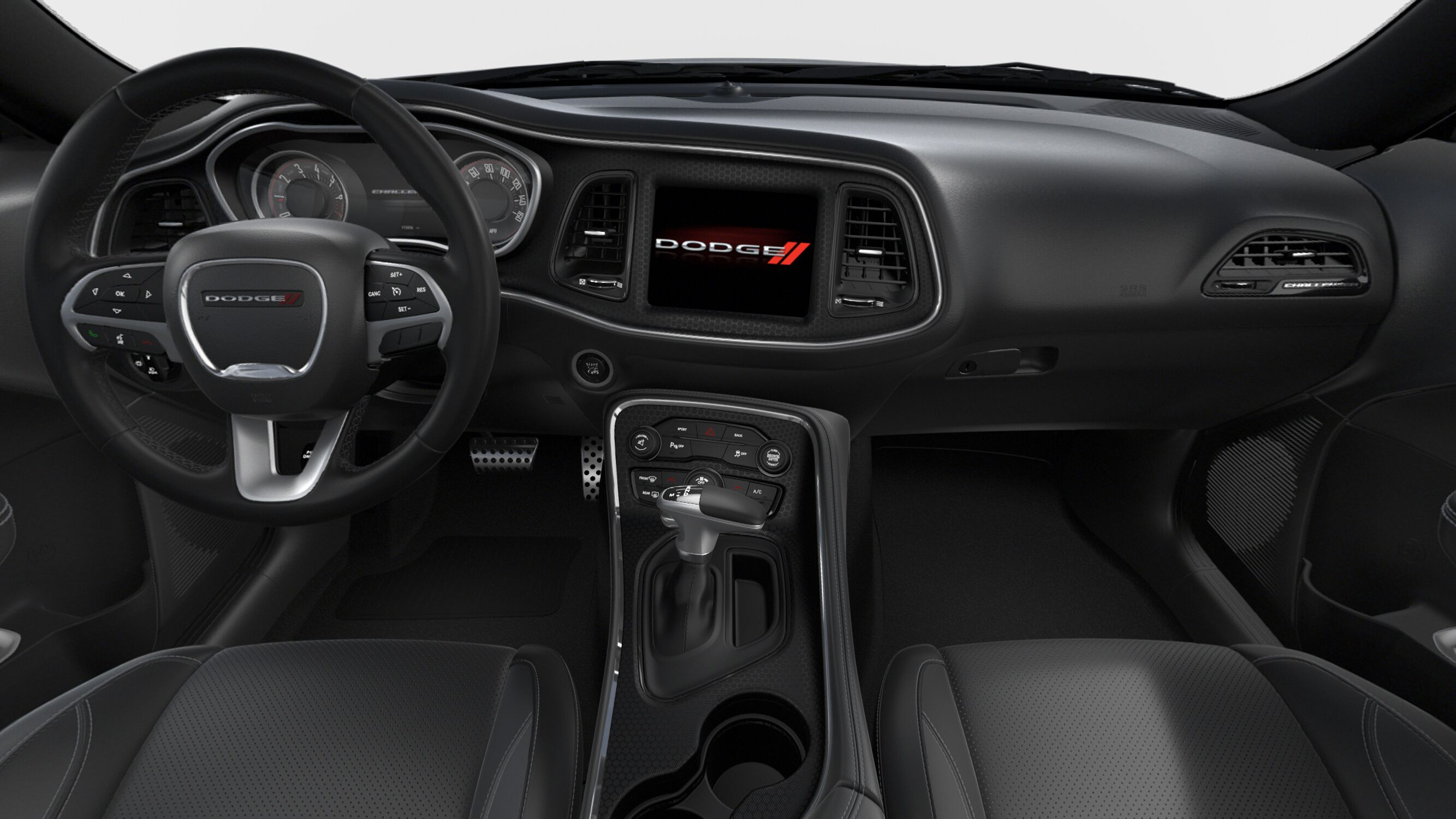 2018 Dodge Challenger SXT Plus Front Interior Detail Picture