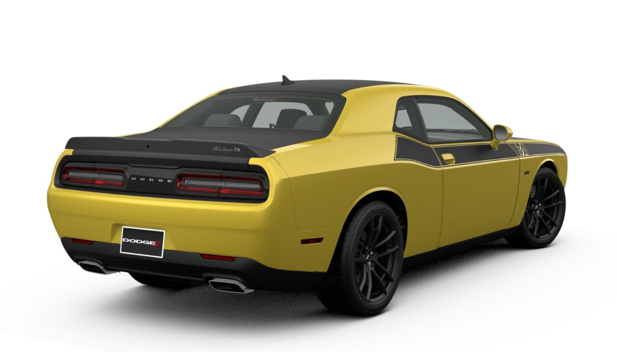 2018 Dodge Challenger TA 392 Rear Yellow Exterior