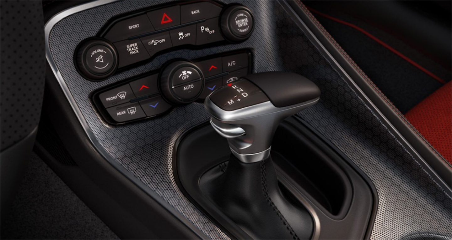 2018 Dodge Challenger Interior Shift Knob Detail