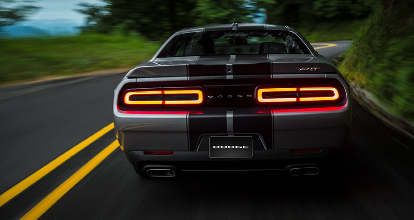 2018 Dodge Challenger Rear Striped Exterior