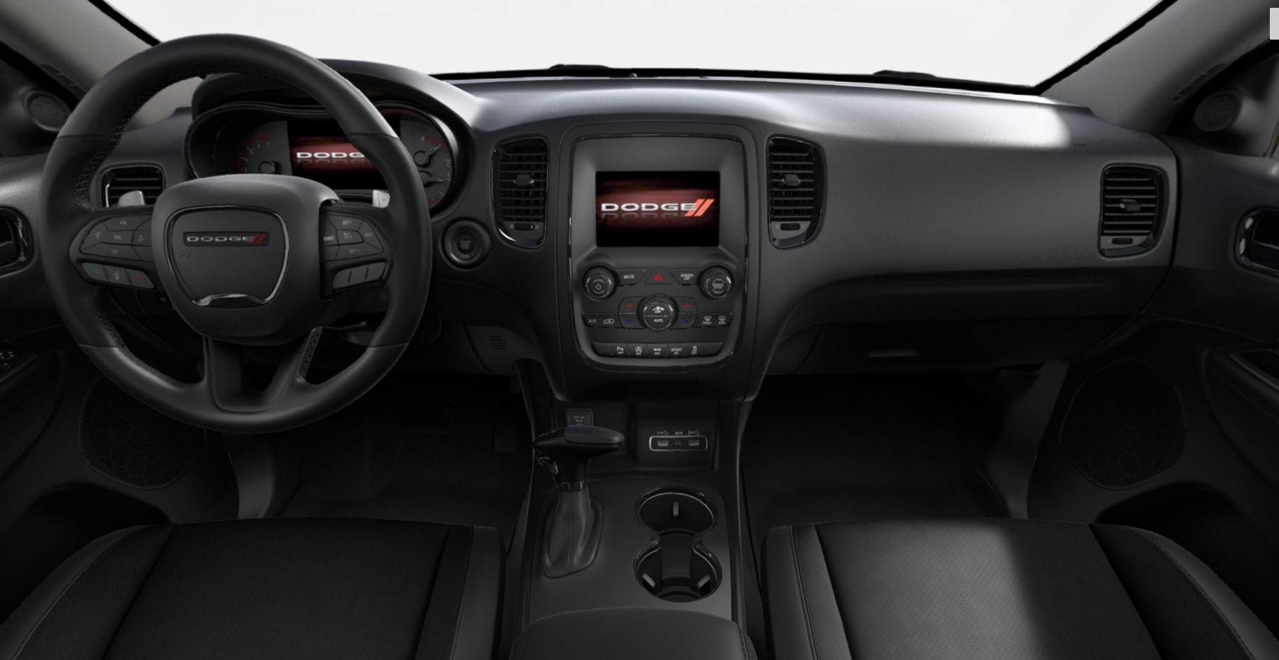 2018 Dodge Durango GT Black Leather Interior