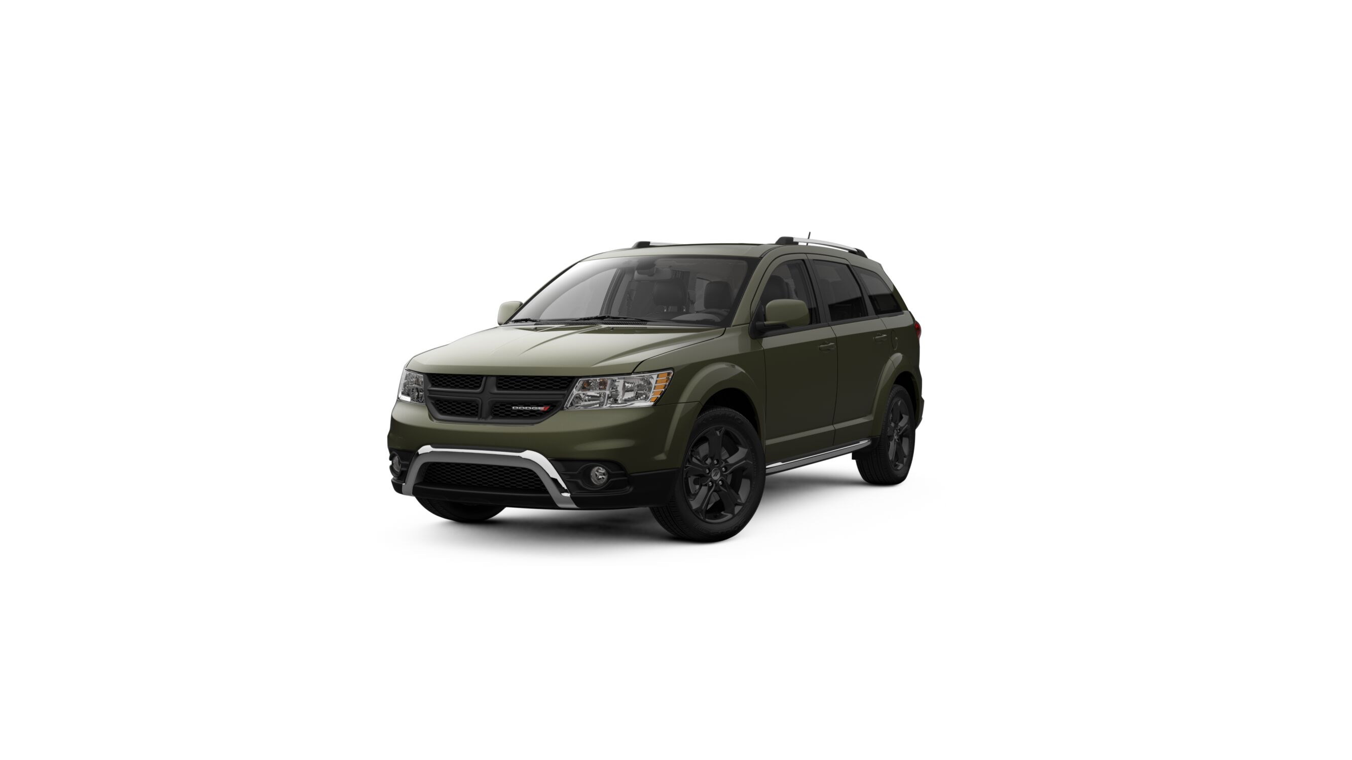 2018 Dodge Journey Crossroad Olive Green Exterior Front View