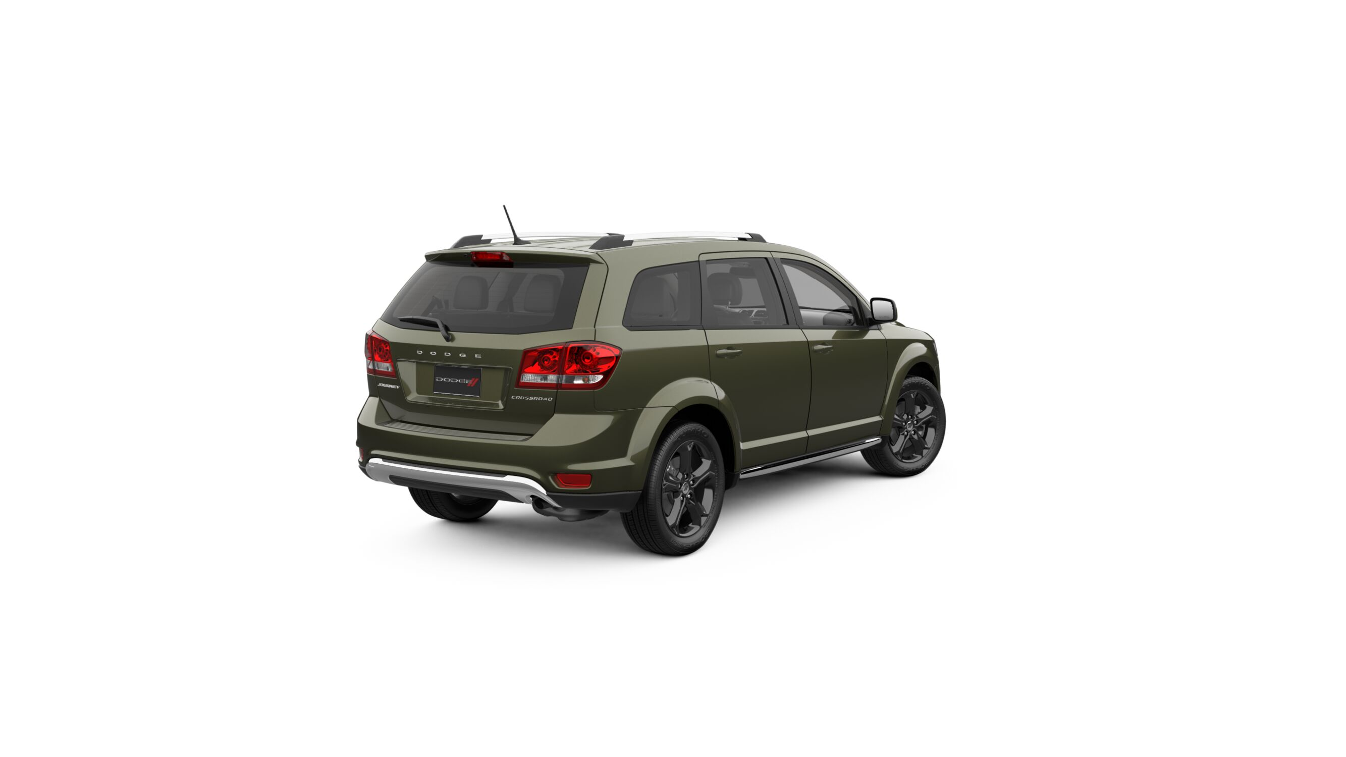 2018 Dodge Journey Crossroad Olive Green Exterior Rear View