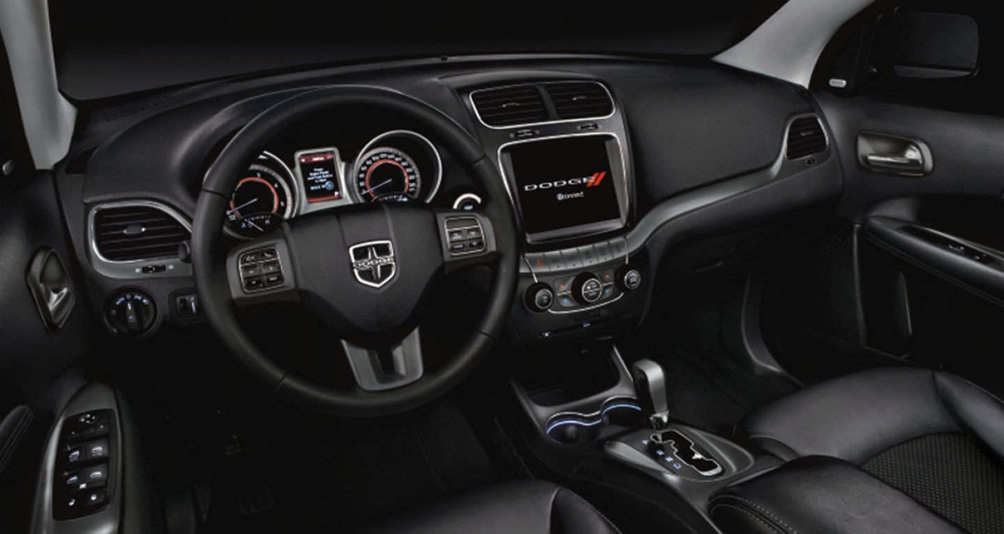 2018 Dodge Journey Front Driving Navigation Interior