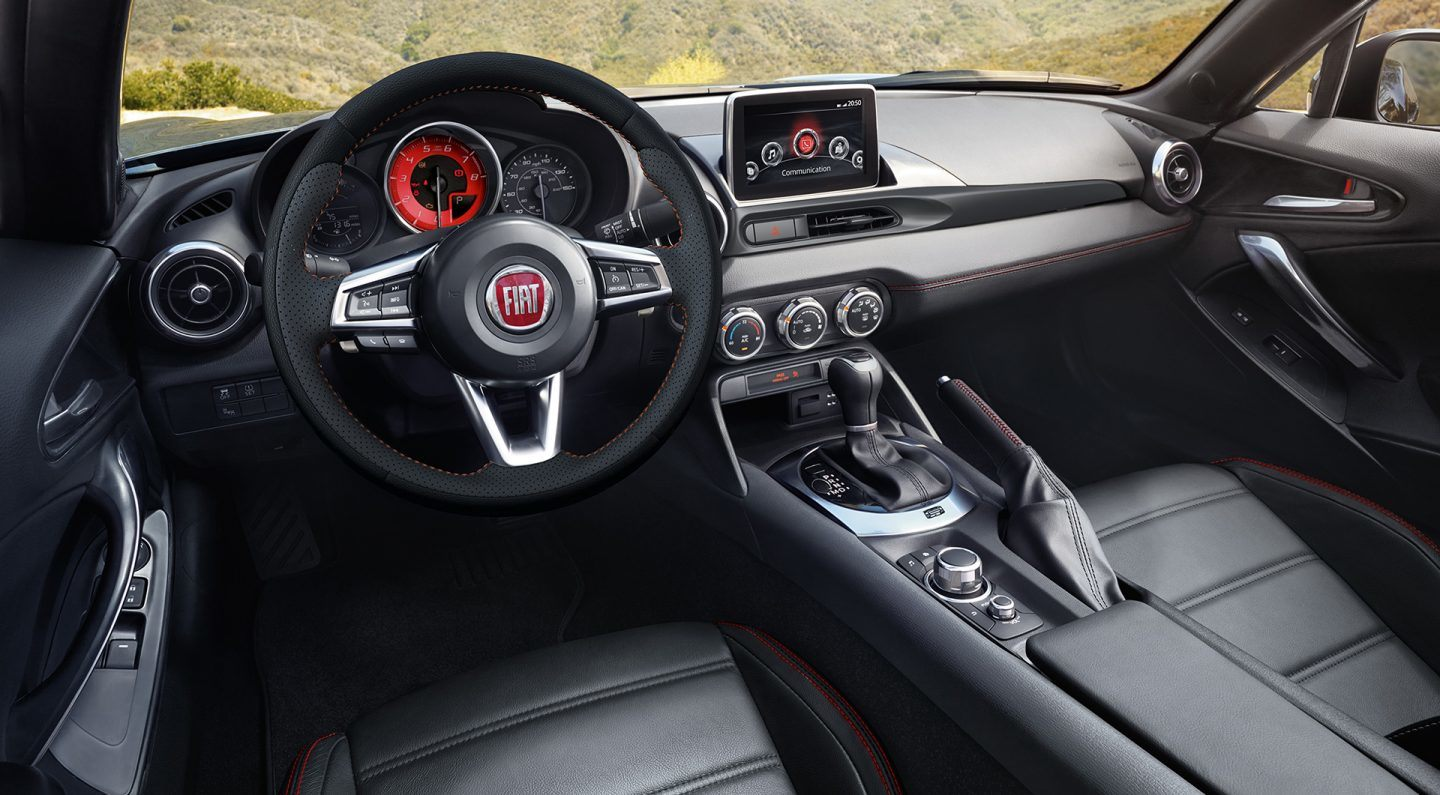 2018 FIAT 124 Spider Front Interior Dashboard