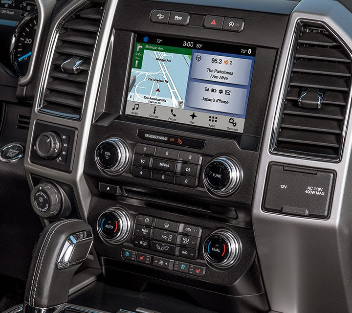 2018 Ford F 150 Black Interior Detail