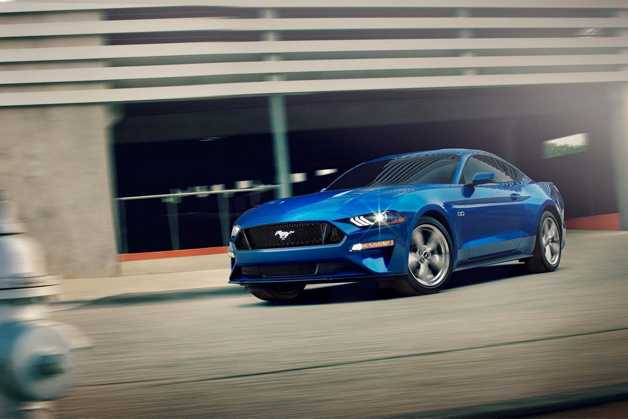 2018 Ford Mustang Lightning Blue Exterior Front View.jpeg