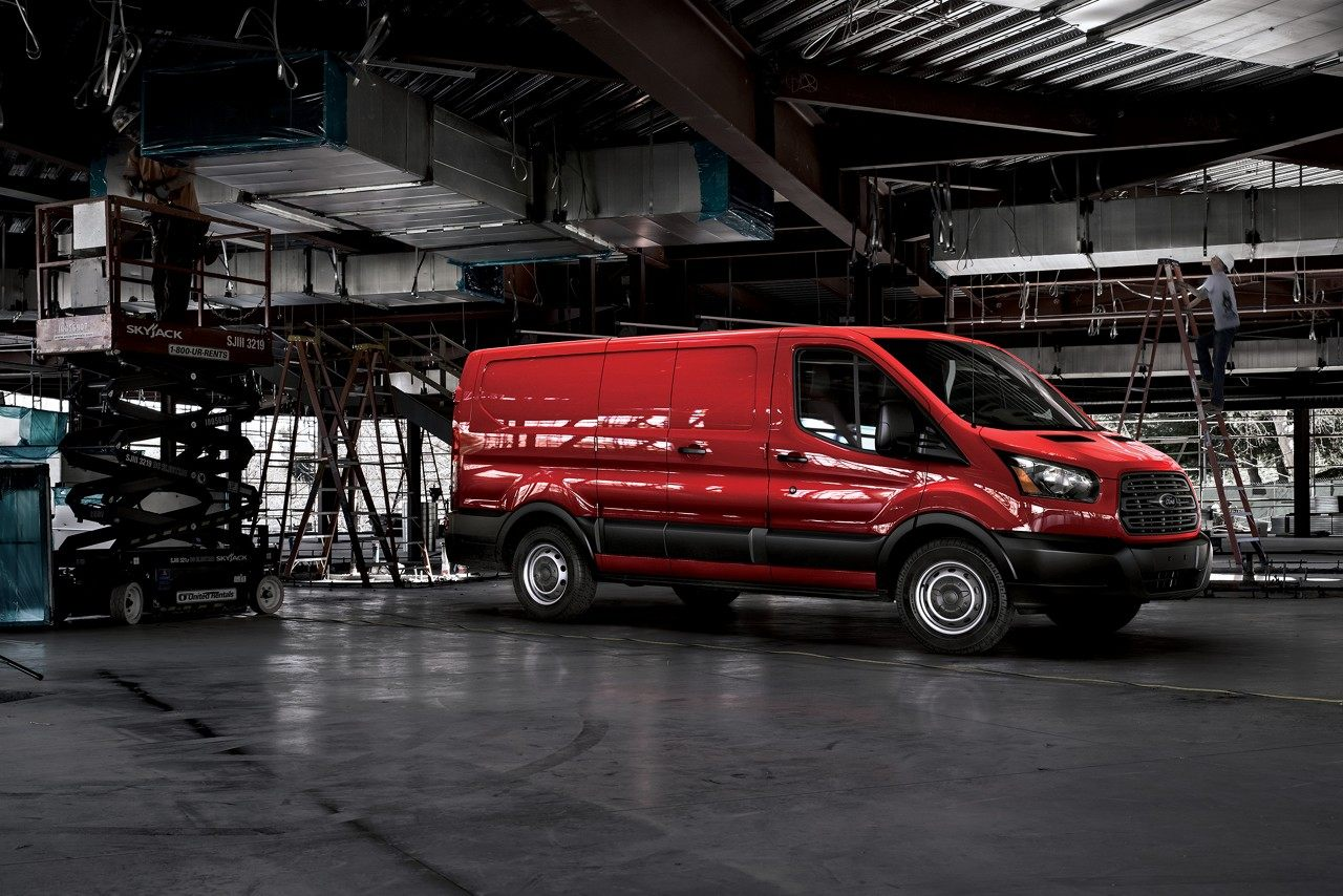 2018 Ford Transit Van Red Exterior Side View.jpeg