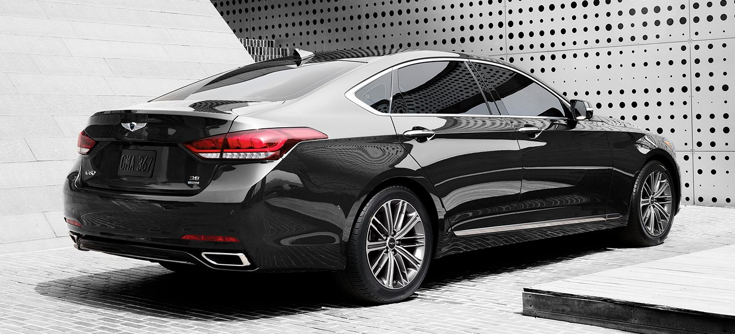 2018 Genesis G80 Rear Side Black Exterior