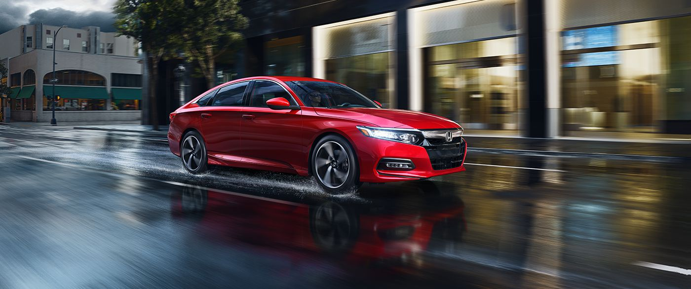 2018 Honda Accord Sedan Side Red Exterior