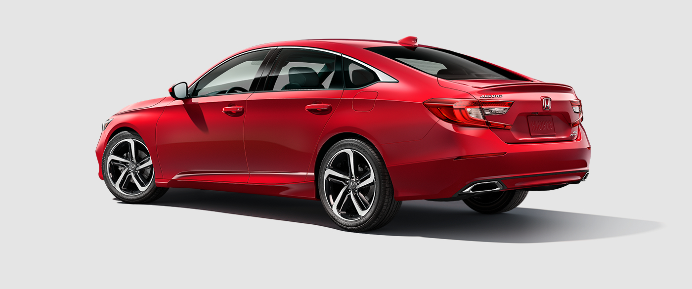 2018 Honda Accord Sport Red Exterior Side View