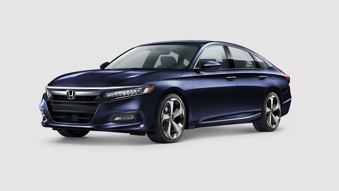 2018 Honda Accord Touring Obsidian Blue Exterior Front View