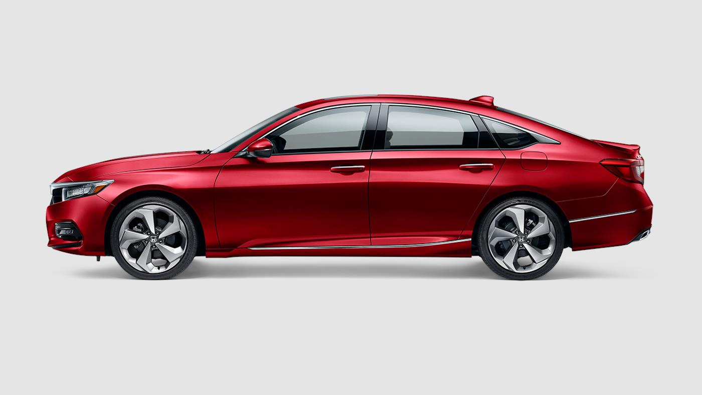 2018 Honda Accord Touring Radiant Red Exterior Side View