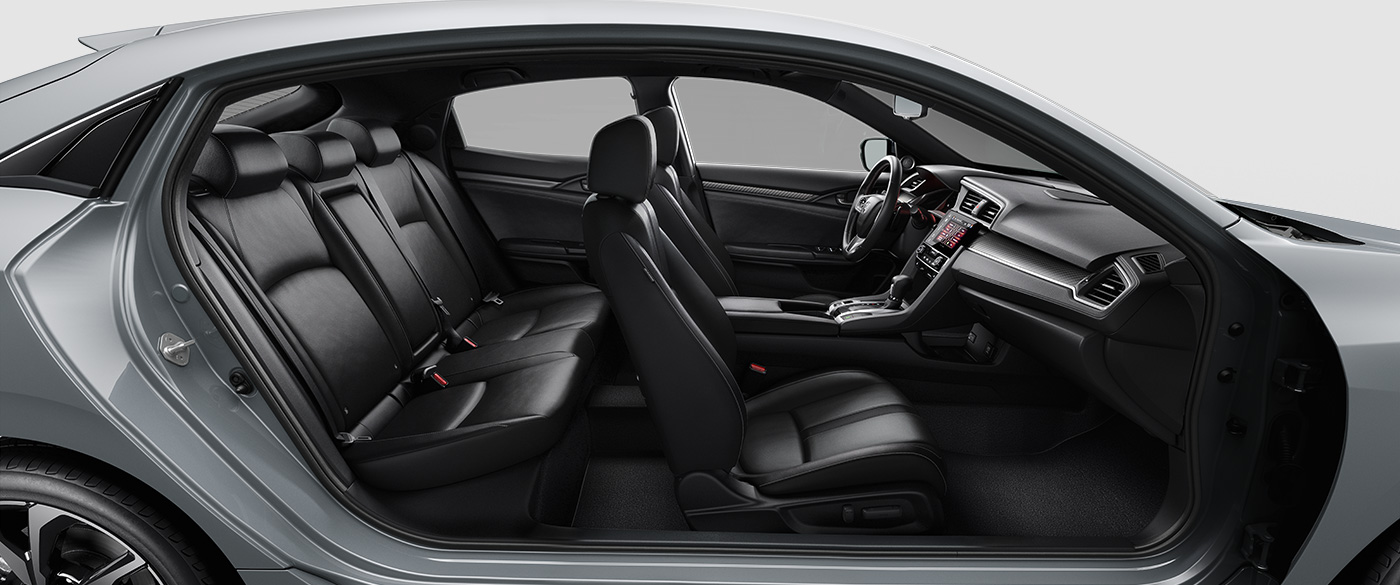 Picture of 2018 Honda Civic Hatchback Sport Touring Black Leather Interior Seating