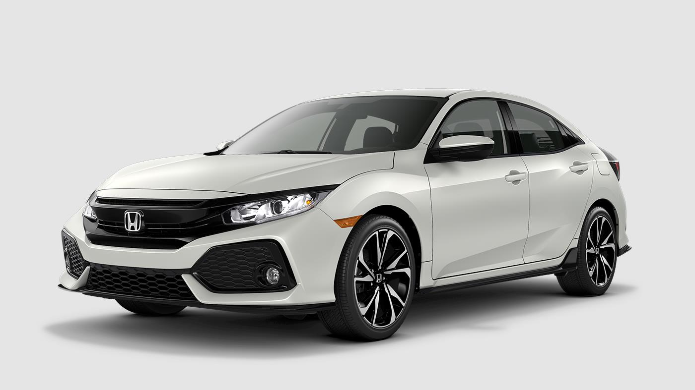 2018 Honda Civic Sport White Orchid Exterior Front View