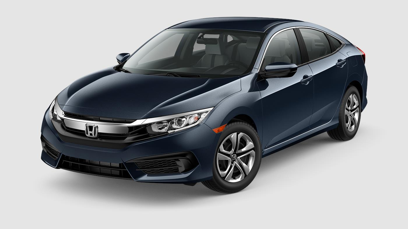 2018 Honda Civic Sedan LX Cosmic Blue Exterior Front