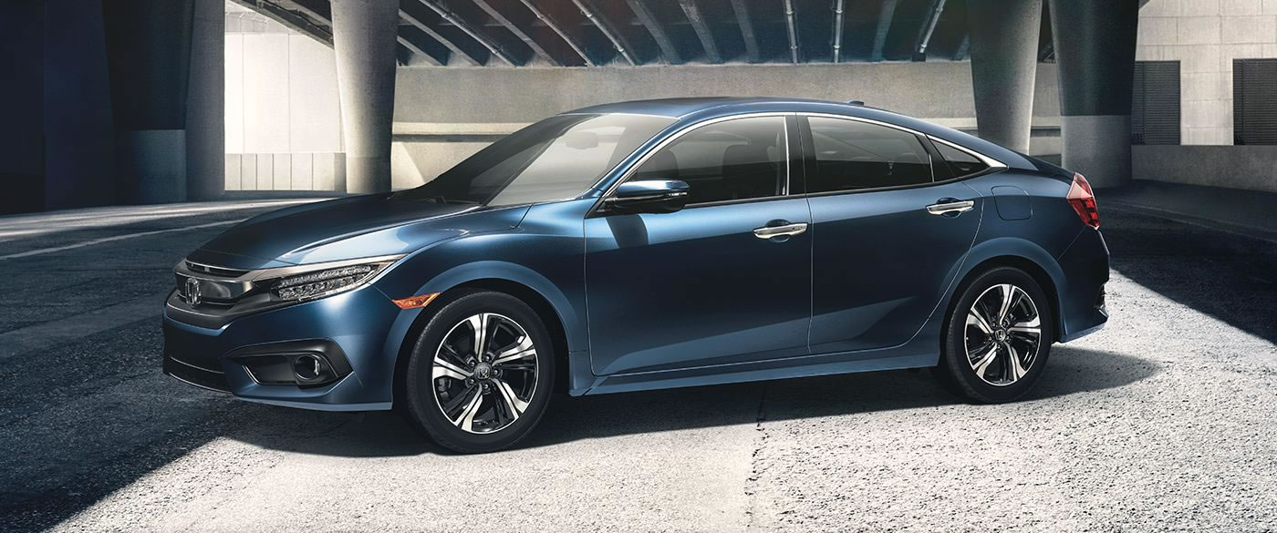 2018 Honda Civic Sedan Blue Exterior Side View