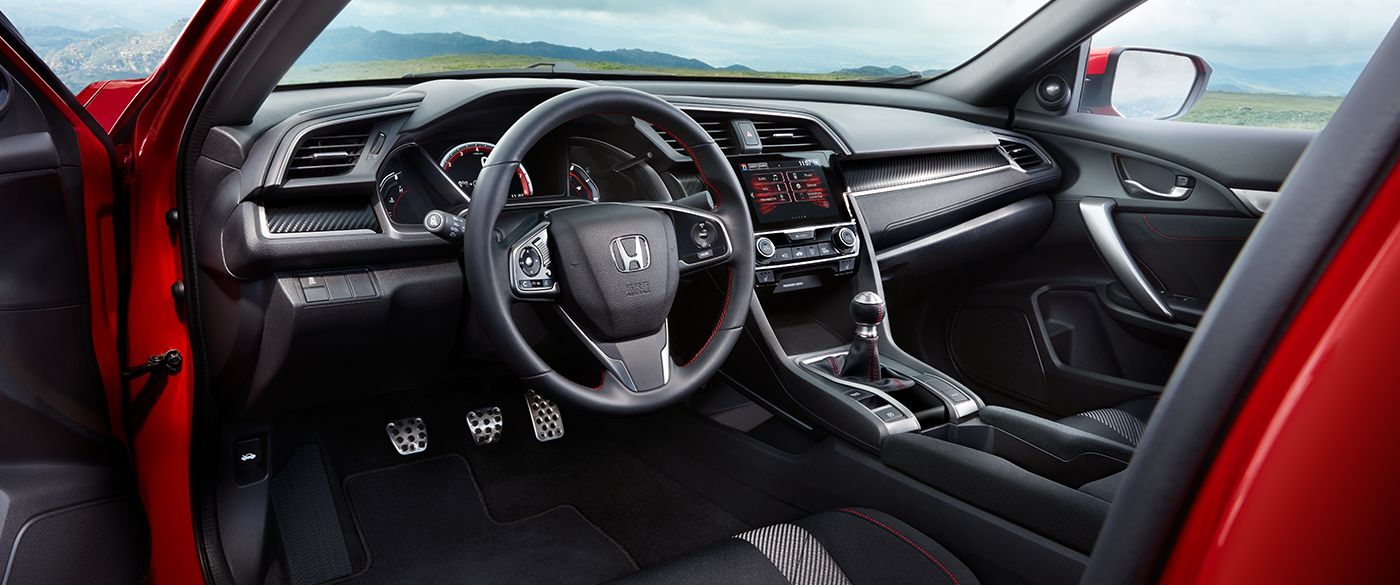 2018 Honda Civic Si Coupe Front Interior