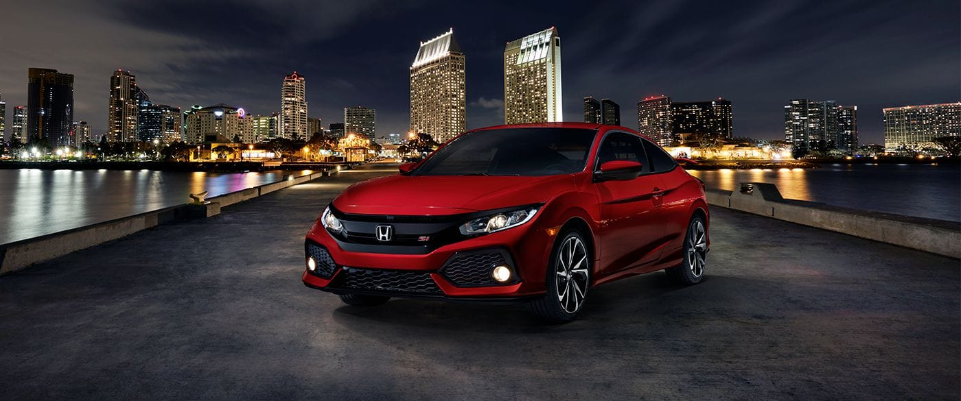 2018 Honda Civic Si Coupe Ralle Red Exterior Front View