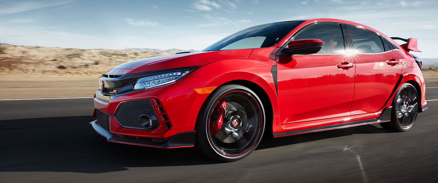 2018 Honda Civic Type R Red Exterior Side View