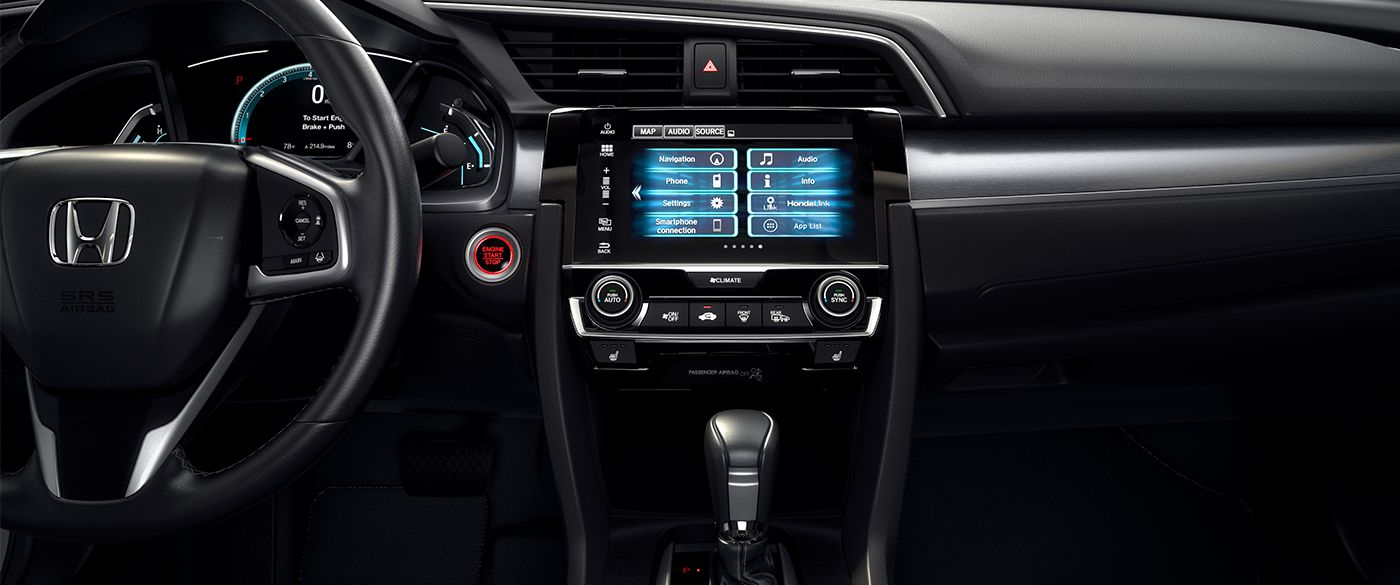 2018 Honda Civic Front Interior Dashboard and Seating