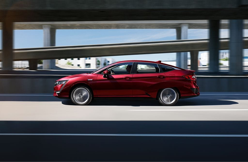 2018 Honda Clarity Plug-In Hybrid Red Exterior Side Profile
