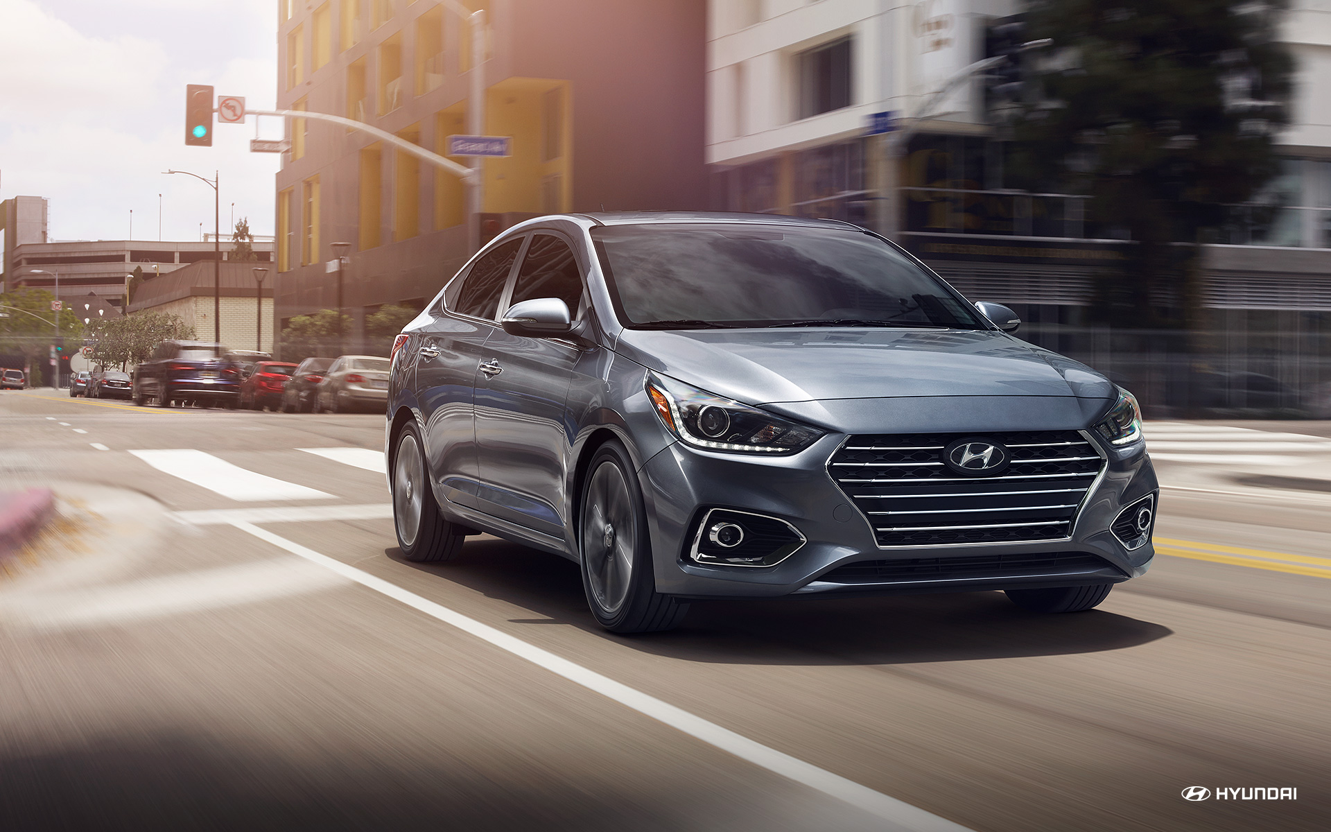 2018 Hyundai Accent Urban Gray Exterior Front View
