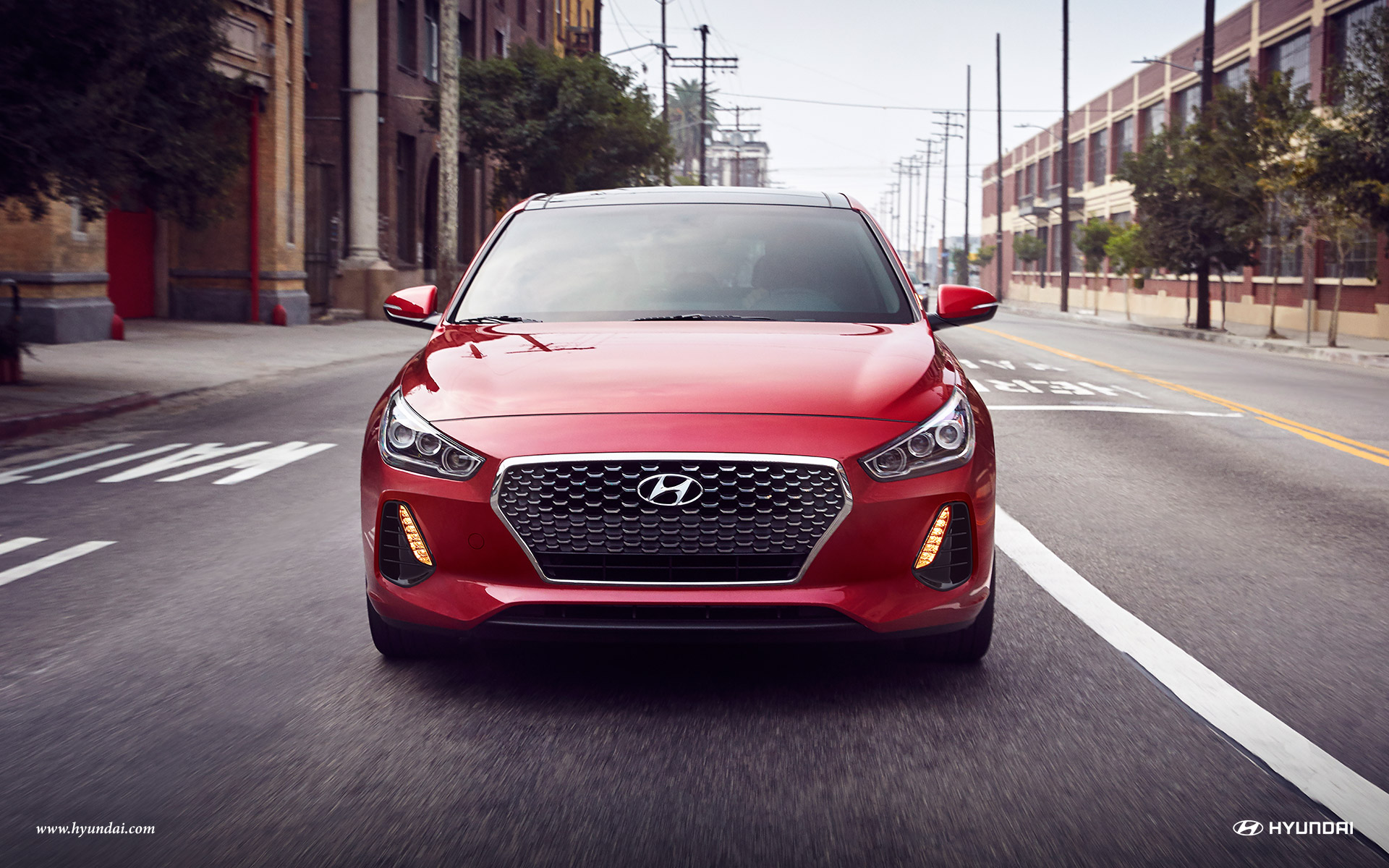 2018 Hyundai Elantra GT Scarlet Red Pearl Exterior Front View