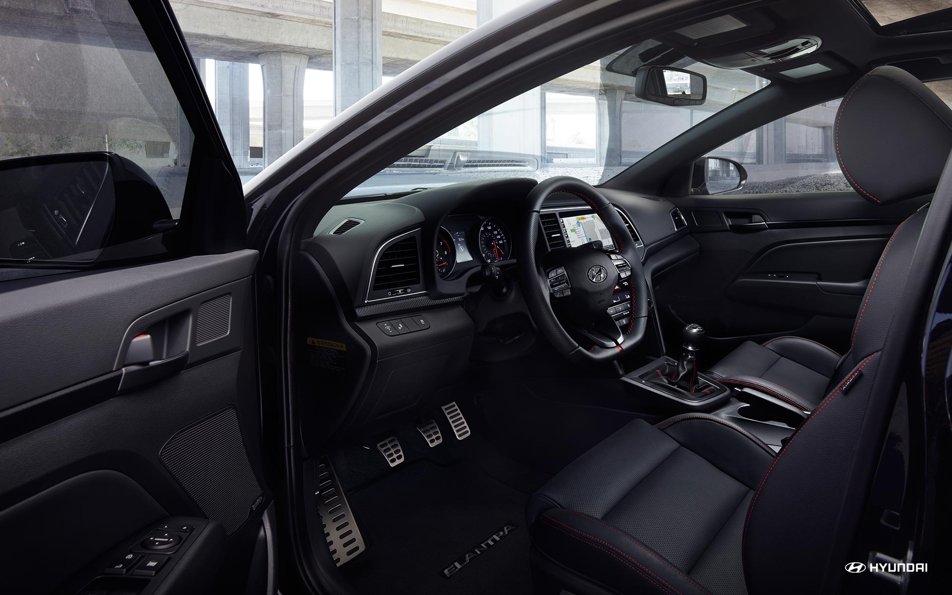 2018 Hyundai Elantra Black Cloth Interior