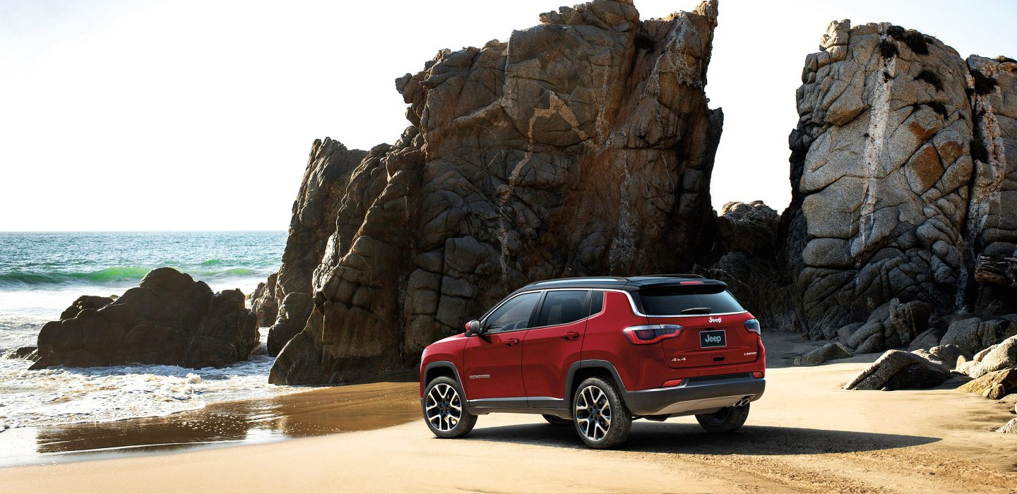 2018 Jeep Compass Limited Red Exterior Rear View