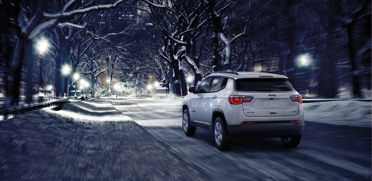 2018 Jeep Compass Rear White Exterior