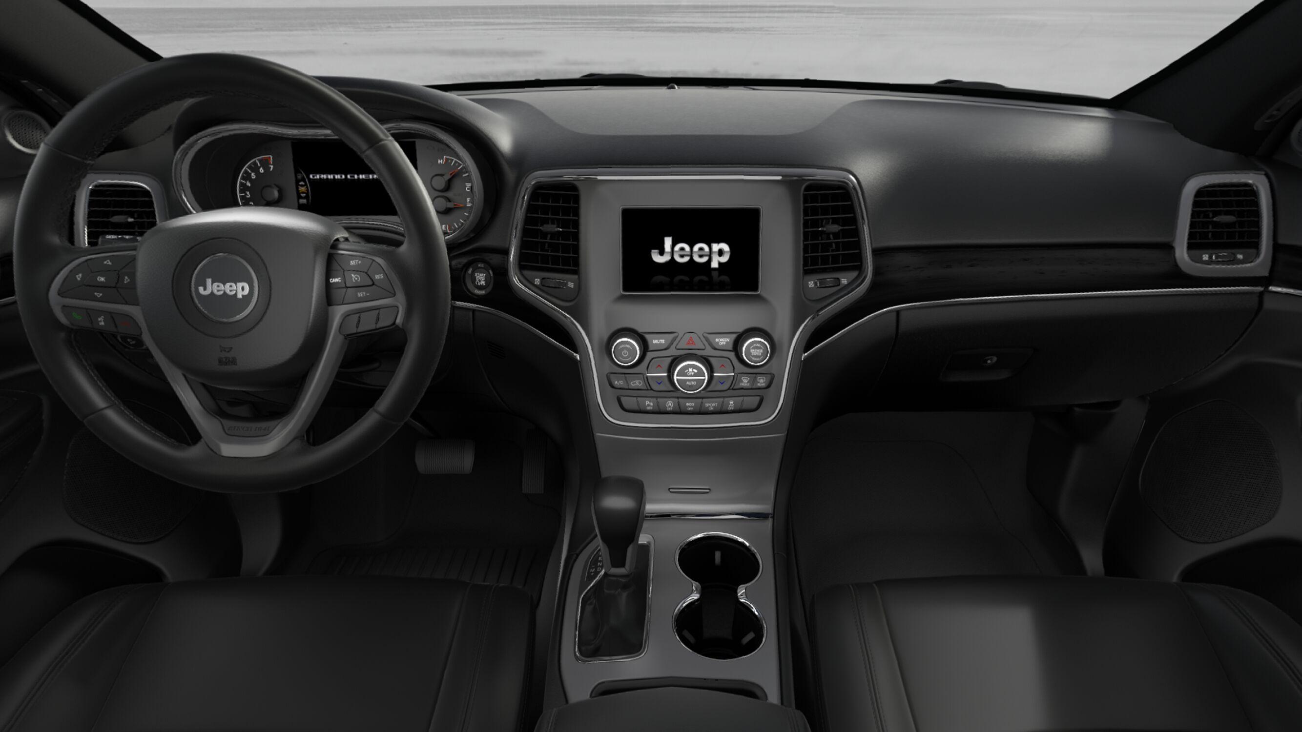 2018 Jeep Grand Chreokee Limited Front Interior Steering Wheel and Dash