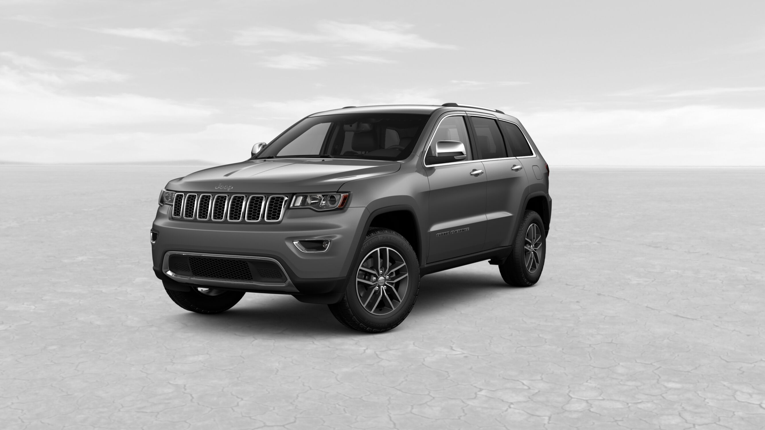 2018 Jeep Grand Chreokee Limited Granite Crystal Metallic Exterior Front View
