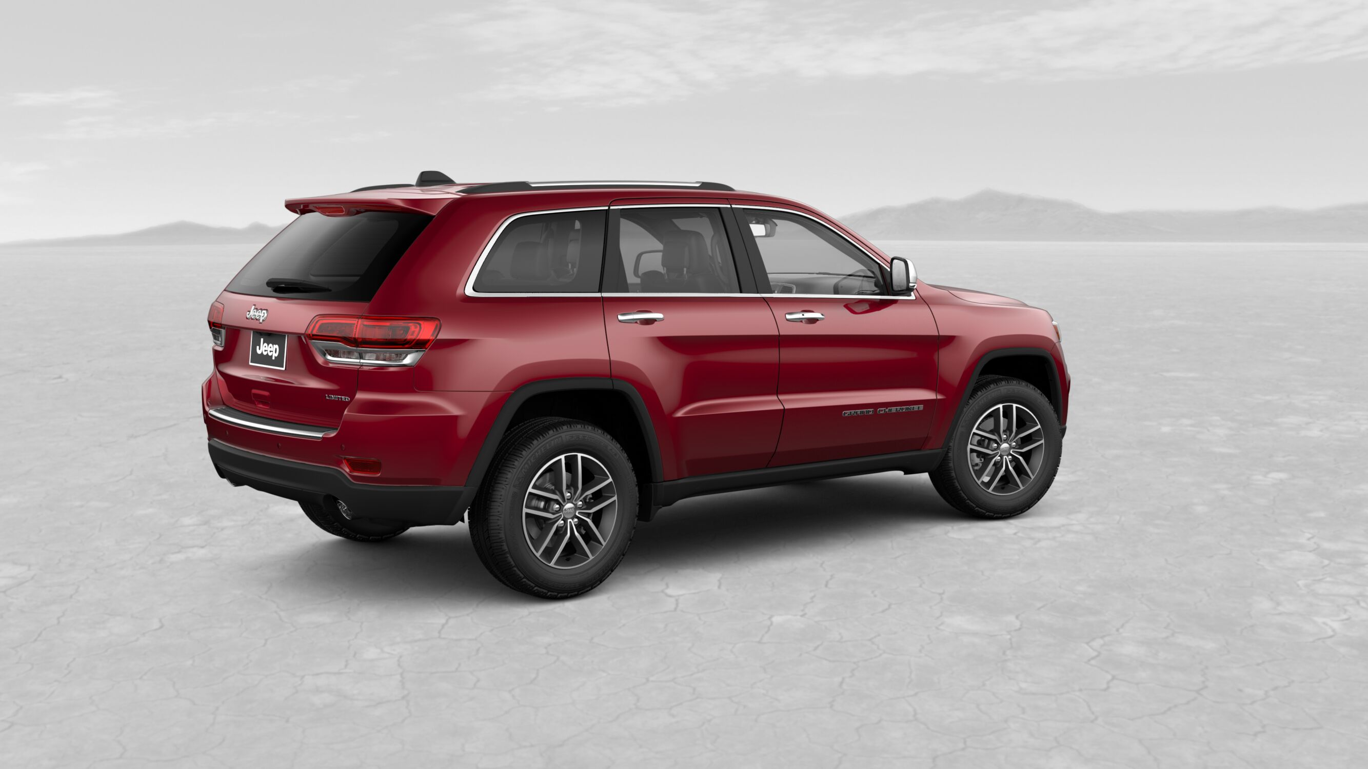 2018 Jeep Grand Chreokee Limited Velvet Red Pearl Exterior Side View