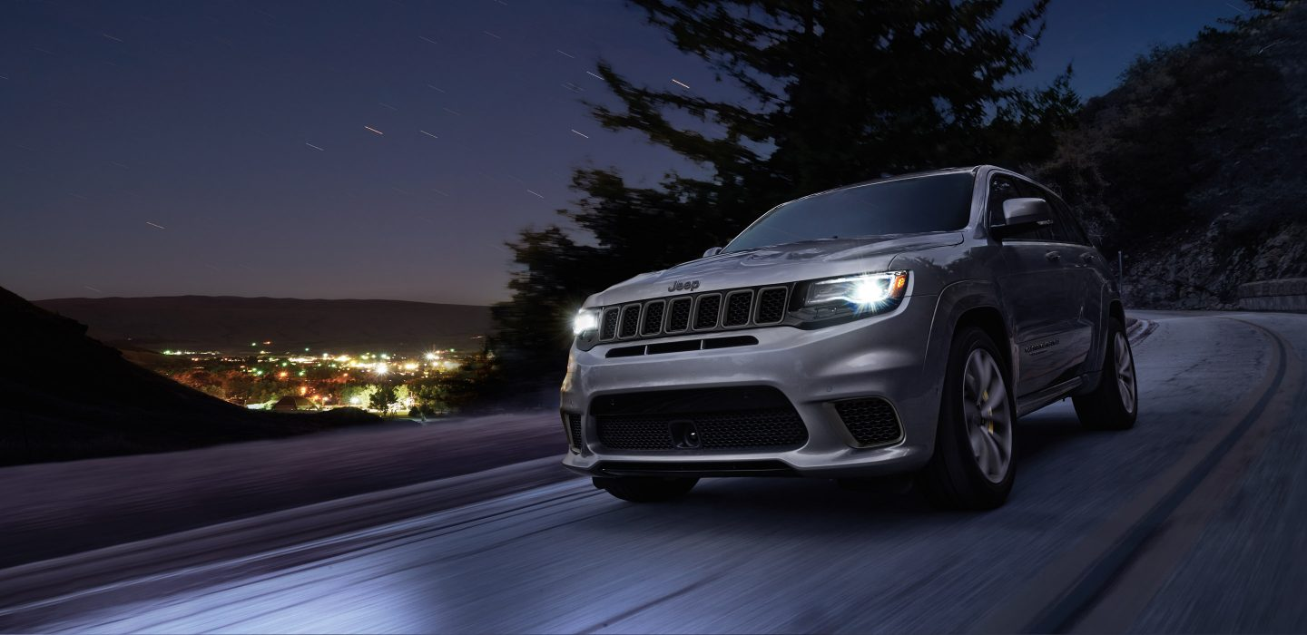 2018 Jeep Grand Chreokee Trackhawk Silver Exterior Front View