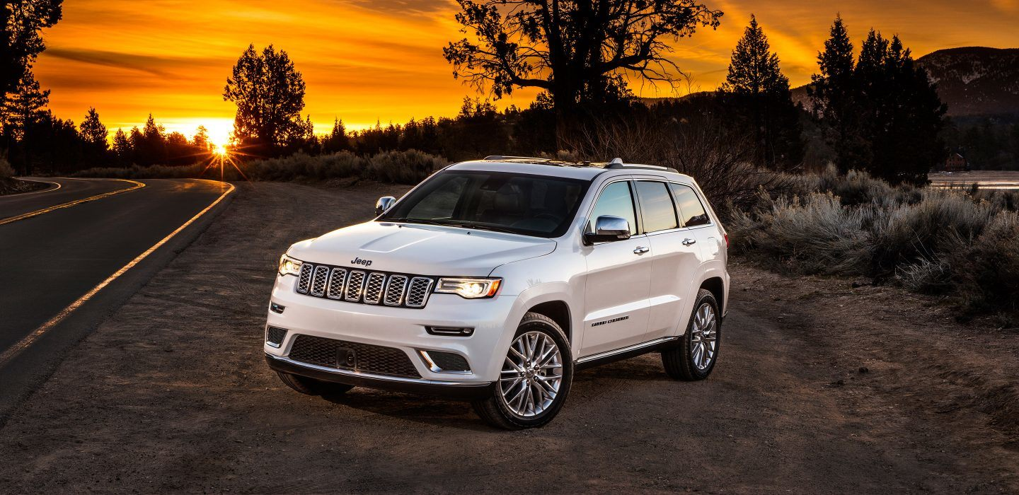 Ford Edge In Athens  Jeep Grand Cherokee White Front Exterior