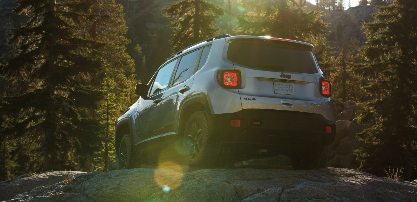 2018 Jeep Renegade Rear Silver Exterior