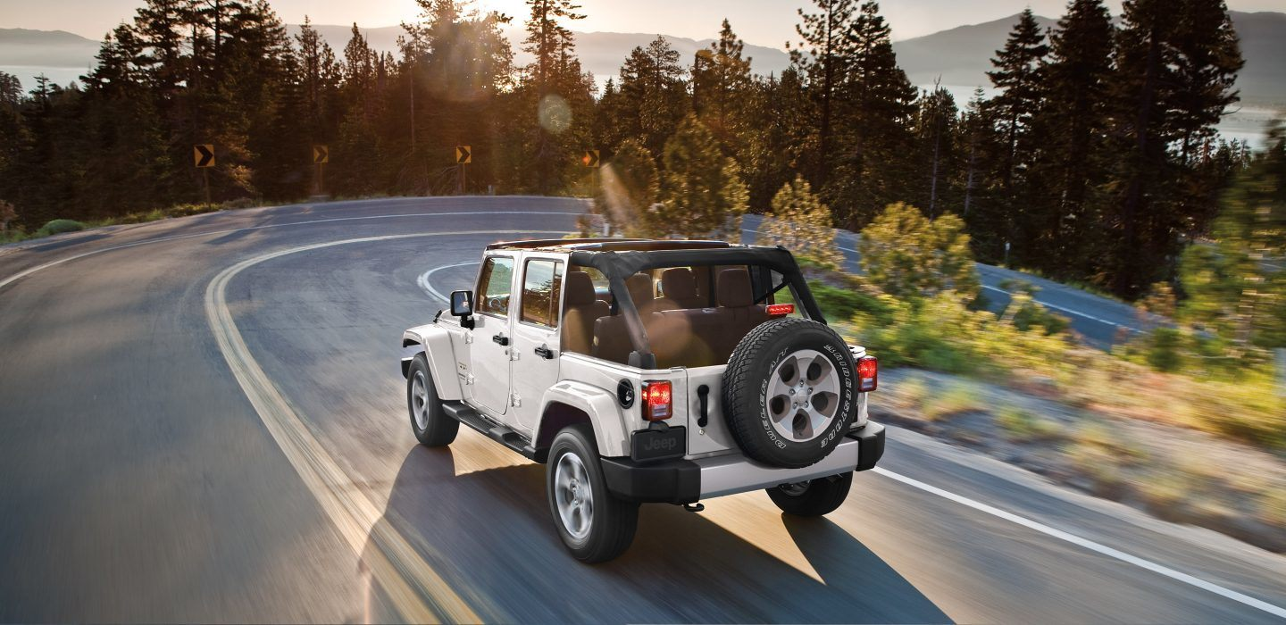 2018 Jeep Wrangler JK Unlimited White Rear Exterior